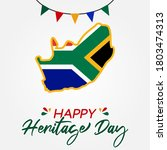 happy heritage day south africa ... | Shutterstock .eps vector #1803474313