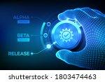software testing engineering... | Shutterstock .eps vector #1803474463
