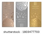 silver and gold vintage set of... | Shutterstock .eps vector #1803477703