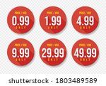 red usd price stickers set....   Shutterstock .eps vector #1803489589