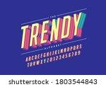 vector of stylized trendy font... | Shutterstock .eps vector #1803544843