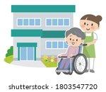 senior women in nursing homes... | Shutterstock .eps vector #1803547720