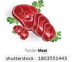 tender meat vector illustration ...   Shutterstock .eps vector #1803551443