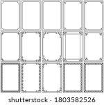 set of simple frames vector... | Shutterstock .eps vector #1803582526