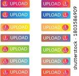 upload button icon vector file  ... | Shutterstock .eps vector #1803586909