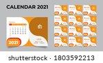 2021 desk calendar  desk... | Shutterstock .eps vector #1803592213