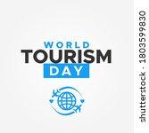 world tourism day vector design ... | Shutterstock .eps vector #1803599830