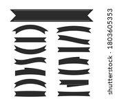 black ribbon banners set.... | Shutterstock . vector #1803605353
