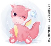 Cute Pink Baby Dragon Playing...
