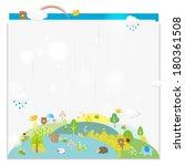 animal in woods  illustration  | Shutterstock . vector #180361508