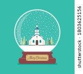 Merry Christmas Glass Ball With ...