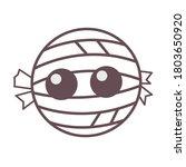 cute halloween mummy  icon... | Shutterstock .eps vector #1803650920