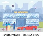 people buy luxury cabriolet at... | Shutterstock .eps vector #1803651229