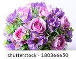 colorful flower arrangement... | Shutterstock . vector #180366650