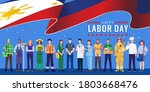 happy labor day. various... | Shutterstock .eps vector #1803668476