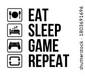 gamer daily activity life... | Shutterstock .eps vector #1803691696