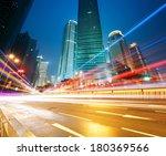 the light trails on the modern...   Shutterstock . vector #180369566