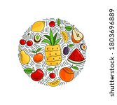 hand drawn illustration of... | Shutterstock .eps vector #1803696889