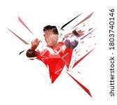 handball player shooting ball ...   Shutterstock .eps vector #1803740146