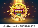 casino free spins  777 slot... | Shutterstock .eps vector #1803744559