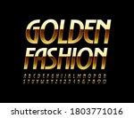 vector glamour logo golden... | Shutterstock .eps vector #1803771016