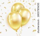 festive golden balloons with...   Shutterstock .eps vector #1803785650