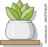 cute home plant illustration... | Shutterstock .eps vector #1803793039