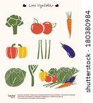 vector illustration vegetables... | Shutterstock .eps vector #180380984