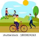 walking in the park  people... | Shutterstock .eps vector #1803824263
