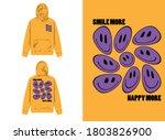 typography street wear hoodie...   Shutterstock .eps vector #1803826900