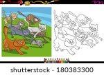 cartoon illustrations of... | Shutterstock . vector #180383300