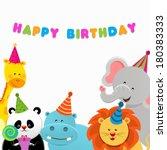 Birthday Animals Card
