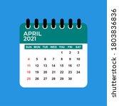 April 2021 Calendar. April 2021 ...