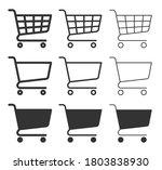 shopping cart icon symbol... | Shutterstock .eps vector #1803838930