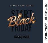 black friday sale for social...   Shutterstock .eps vector #1803842689