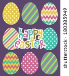 happy easter | Shutterstock .eps vector #180385949