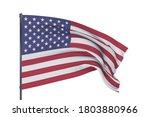 3d illustration. waving flags... | Shutterstock . vector #1803880966