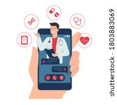 online doctor consultation... | Shutterstock .eps vector #1803883069