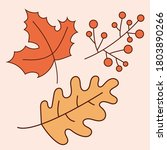 set of autumn leaves. includes... | Shutterstock .eps vector #1803890266