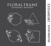 nature flower frame in line...   Shutterstock .eps vector #1803891013