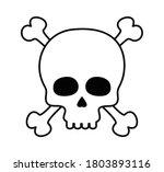 skull vector black and white...   Shutterstock .eps vector #1803893116