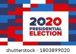 presidential election 2020 in...   Shutterstock .eps vector #1803899020