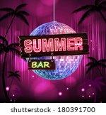 summer disco background. disco ...