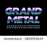 vector grand metal alphabet... | Shutterstock .eps vector #1803924619