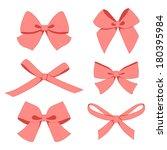 set of vintage bows | Shutterstock .eps vector #180395984
