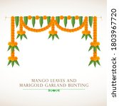 indian traditional bunting... | Shutterstock .eps vector #1803967720