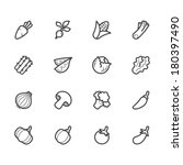 vegetable vector icon set on... | Shutterstock .eps vector #180397490
