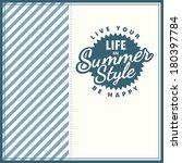 vector summer poster. creative...   Shutterstock .eps vector #180397784