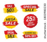 sale banner template design ...   Shutterstock .eps vector #1803980230