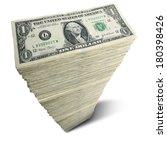 Stack Of One Dollar Bills On...
